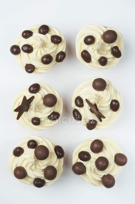 Cupcakes com cobertura de creme — Fotografia de Stock