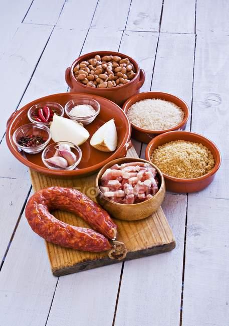 Харчові продукти з іспанської кухні — стокове фото