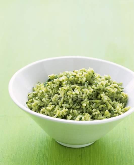 Kräuter weißer Reis — Stockfoto