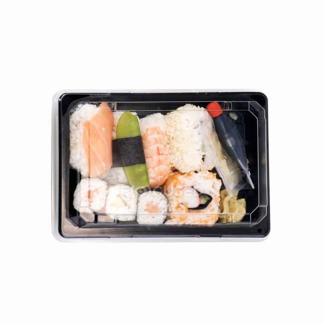 Sushi a casella di take-away — Foto stock