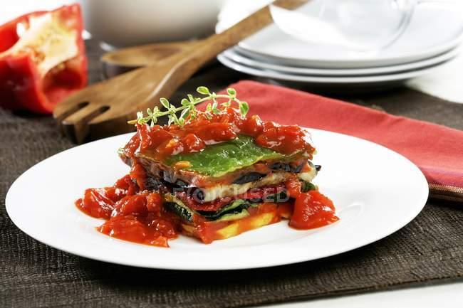 Lasagne alla griglia con verdure — Foto stock