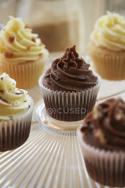 Baunilha e caramelo cupcakes — Fotografia de Stock