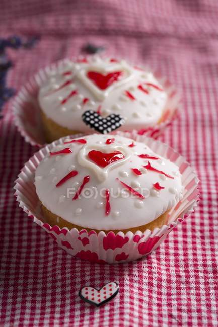 Cupcakes for Valentines Day — Stock Photo