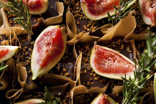 Bolos de chocolate fudge laranja — Fotografia de Stock