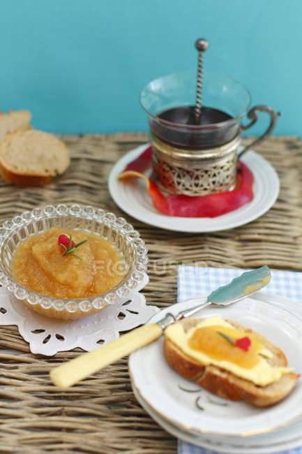 Kürbis Marmelade in Schüssel — Stockfoto