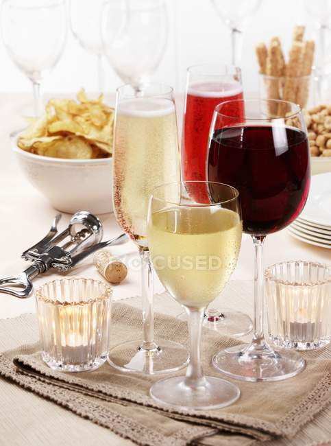 Assorted glasses of wine — Stock Photo