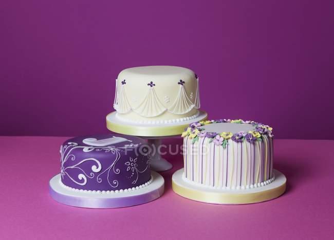 Different celebration cakes — Stock Photo