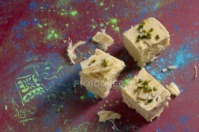 Sweet from gram flour — Stock Photo