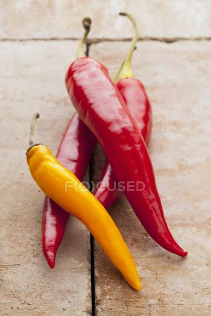 Pimientos chile de Cayena - foto de stock