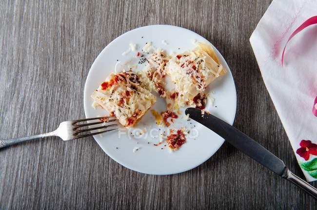 Pasta piccante con peperoncino — Foto stock