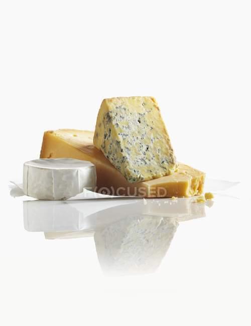 Tre formaggi assortiti — Foto stock