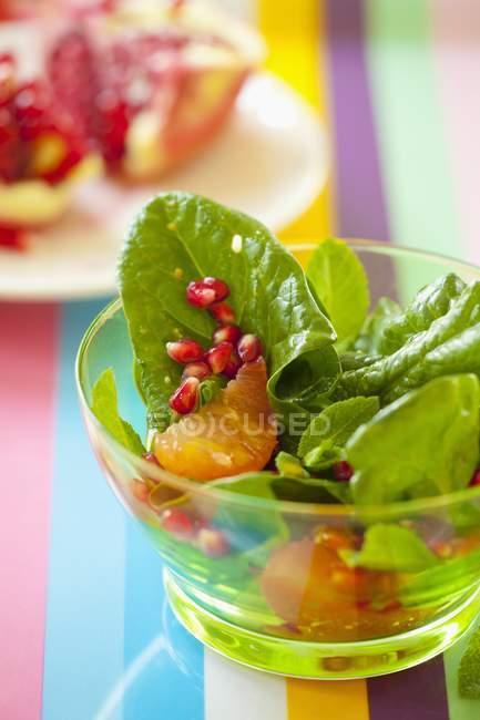 Insalata di spinaci con il pompelmo — Foto stock