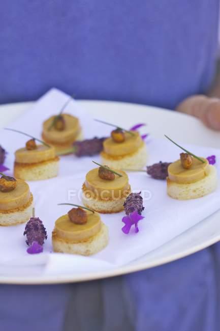 Foie Gras Toasts — Foto stock