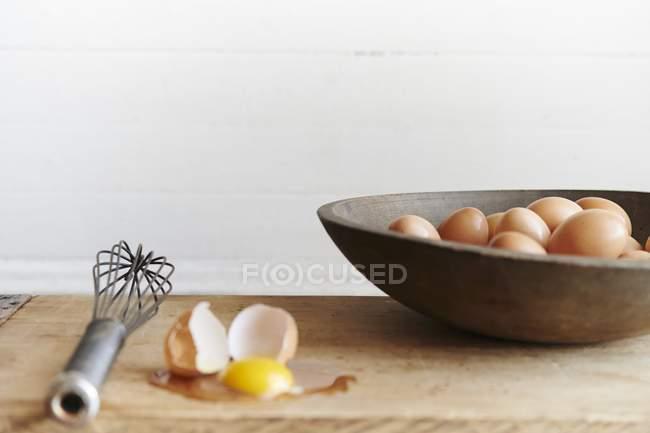 Bauernhof frische Eier — Stockfoto