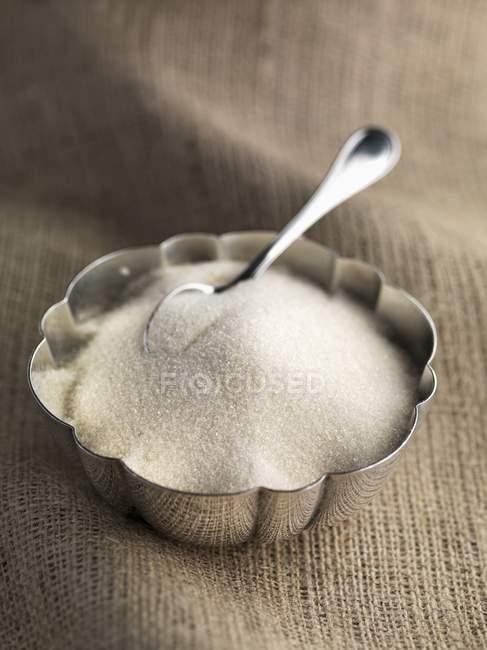Cana de açúcar granulado branco — Fotografia de Stock
