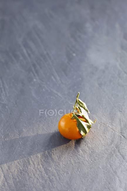 Mandarin orange with leaves — Stock Photo