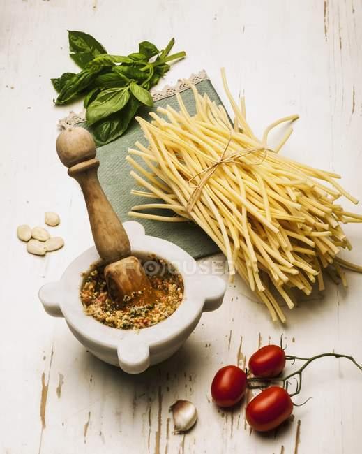 Ingredients for pasta dish — Stock Photo