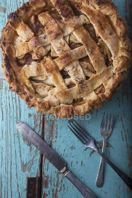 Hausgemachter Apfelkuchen — Stockfoto