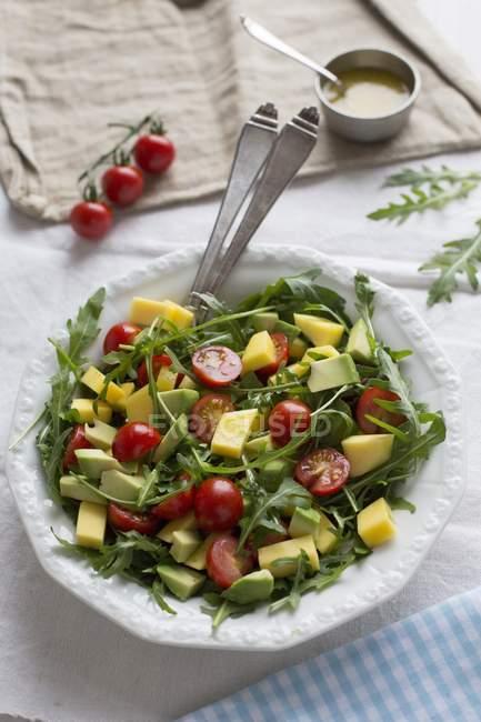 Mango and avocado salad — Stock Photo