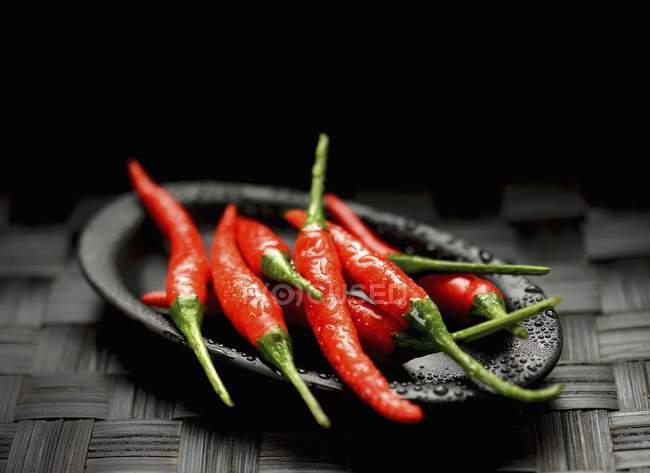 Перец свежий красный перец Чили — стоковое фото