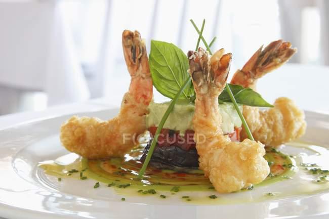 Crevettes tempura frites — Photo de stock