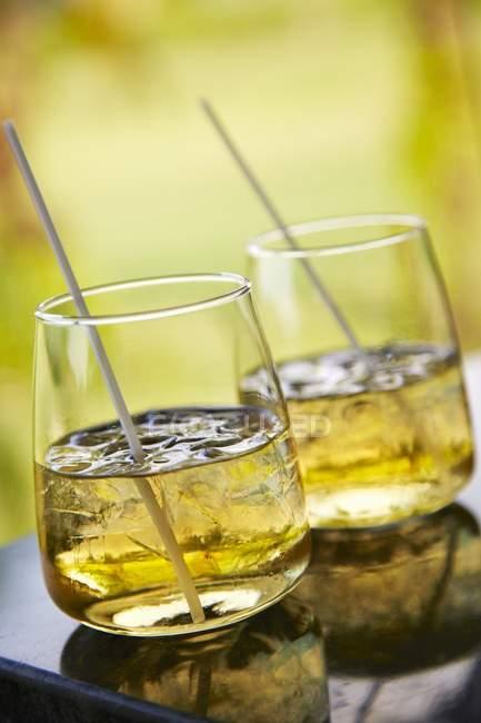 Zwei Whisky-cocktails — Stockfoto