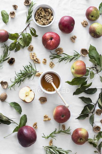 Ingredients for apple cake — Stock Photo