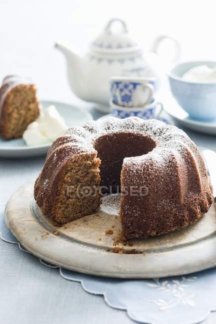Торт кофе и бананов выпекание — стоковое фото