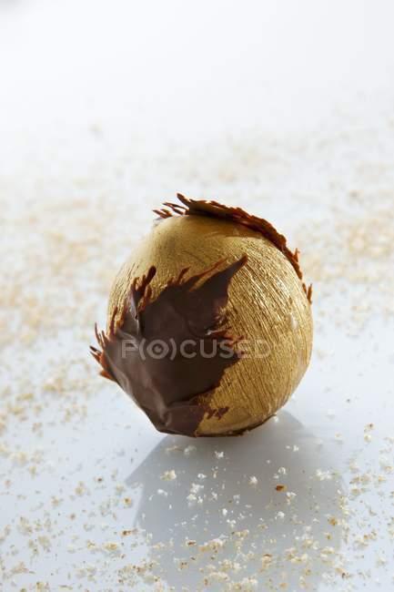 Helado dorado Hazelnu - foto de stock
