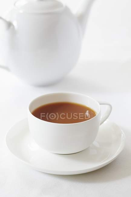 Cup of redbush tea — Stock Photo