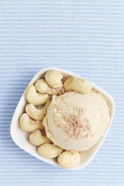 Crème glacée noix de cajou — Photo de stock