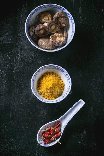 Funghi shiitake secchi — Foto stock