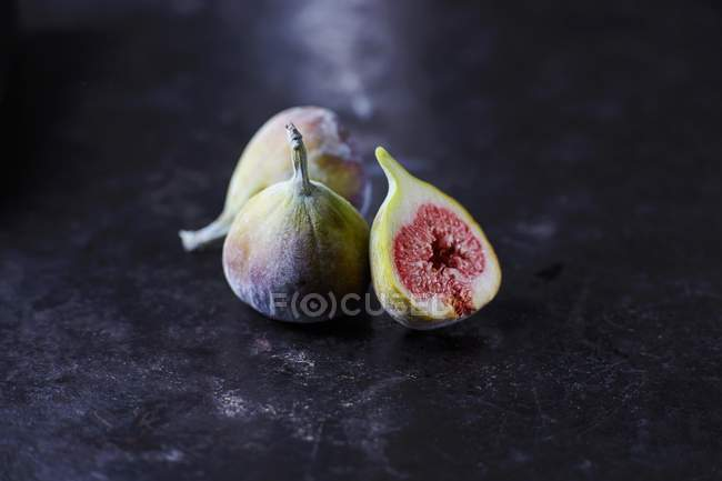 Fresh Figs with half — Stock Photo
