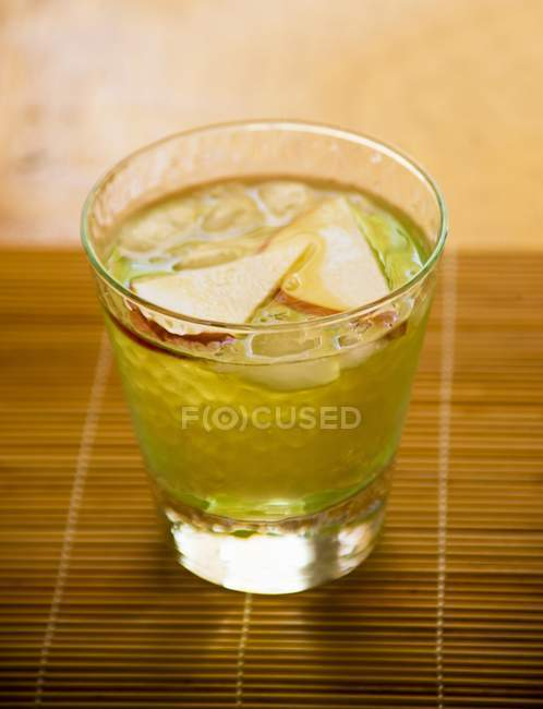 Apple Martini in glass — Stock Photo