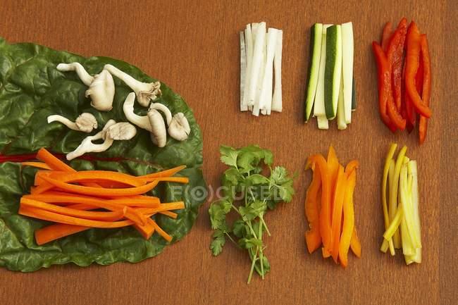 Raw vegetables for veggie wraps — Stock Photo