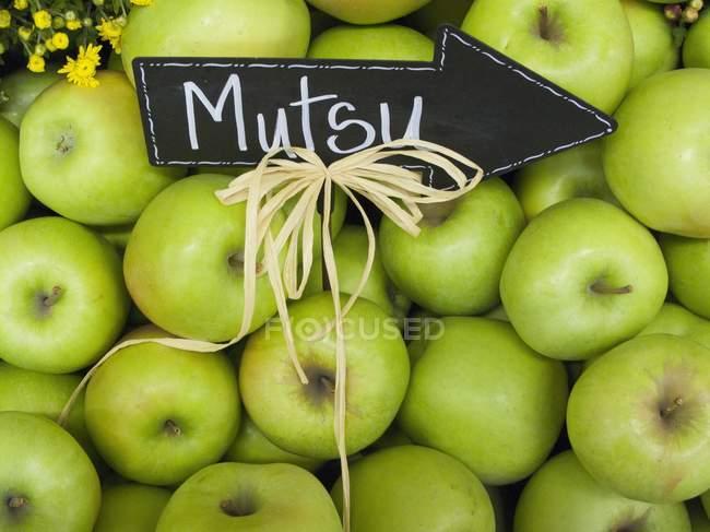 Mutsu fresh apples — Stock Photo