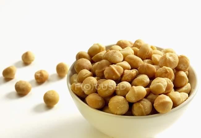 Geröstete Macadamia-Nüsse — Stockfoto