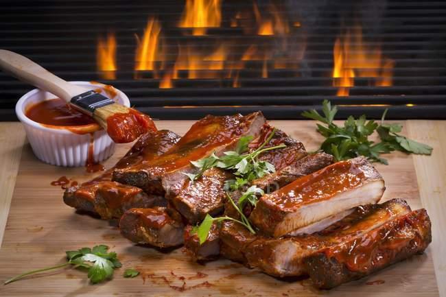Barbecue Spareribs — Stockfoto