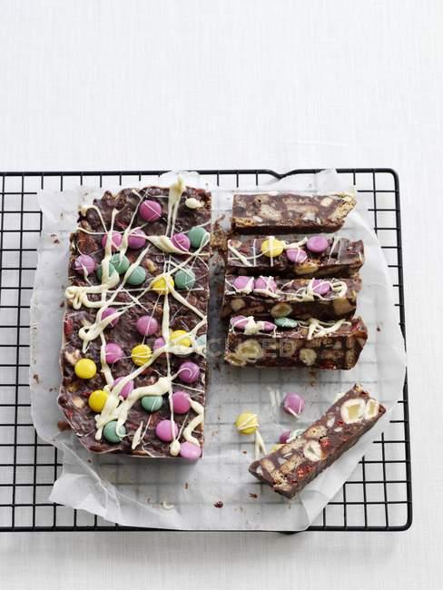 Schokoladen-Kühlschrankkuchen — Stockfoto