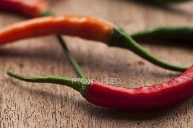 Fresh red chilli peppers — Stock Photo
