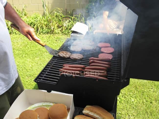 Гамбургери і хот-доги — стокове фото