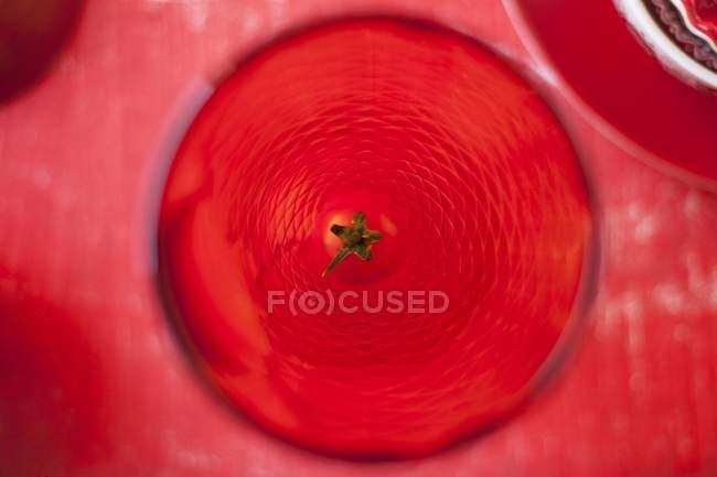 Червоний питної скла — стокове фото