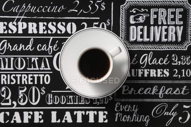 Xícara de café preto — Fotografia de Stock