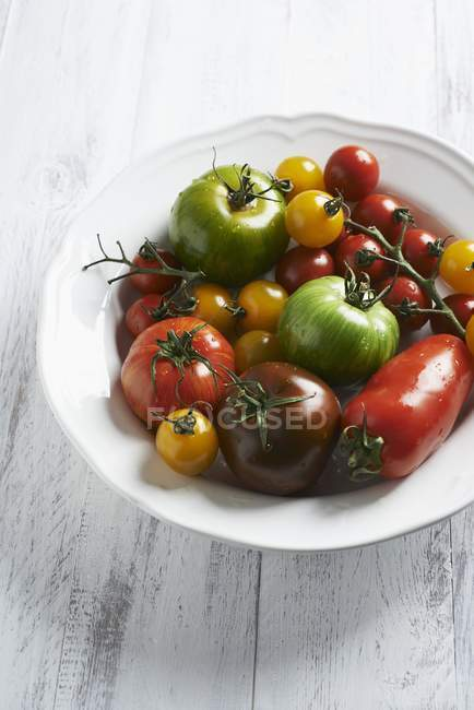 Various colorful tomatoes — Stock Photo
