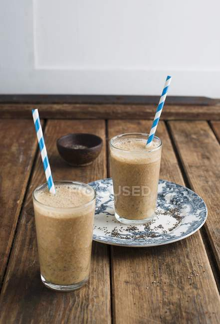 Frullati di banana e caffè — Foto stock