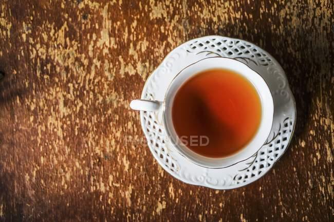 White cup of tea — Stock Photo