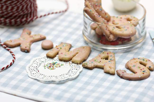 Letter-shaped biscuits — Stock Photo