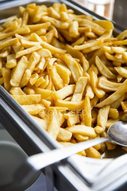 French fries on buffet — Stock Photo