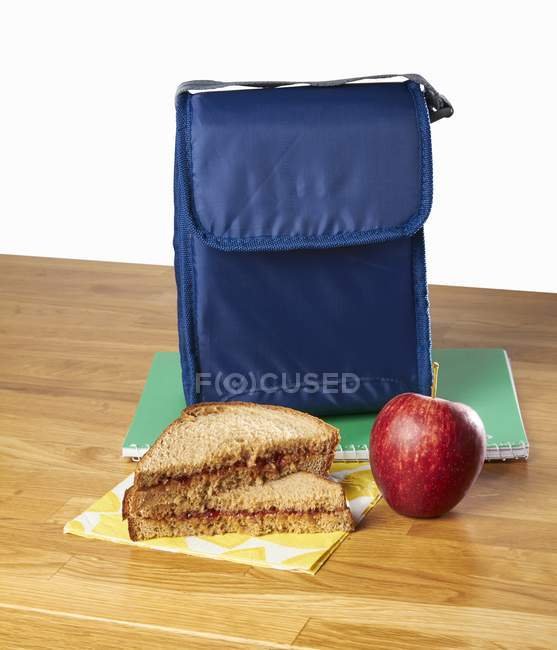 Peanut butter sandwich — Stock Photo