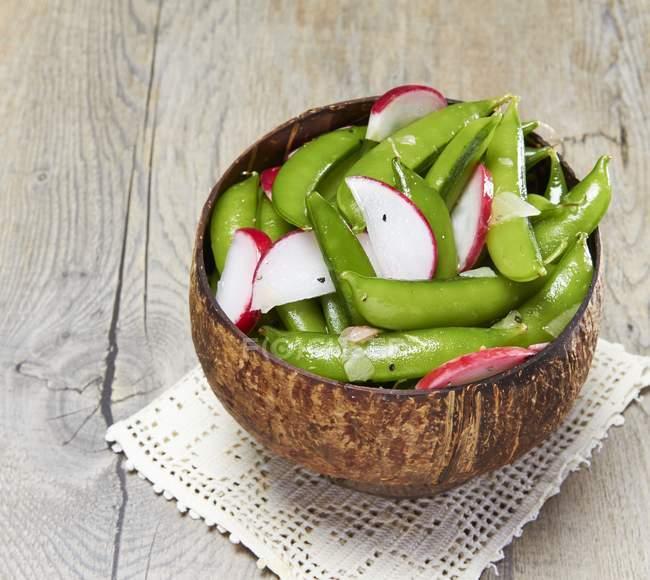 Salada mange tout — Fotografia de Stock